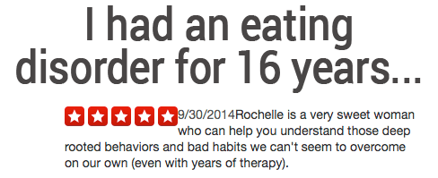 Thanks to Rochelle, I've come a long way…
