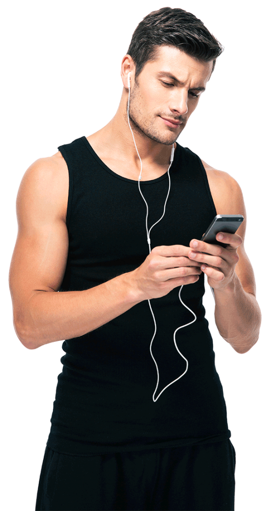 Man listening to Rochelle L. Cooks Behaviorally based weight loss program